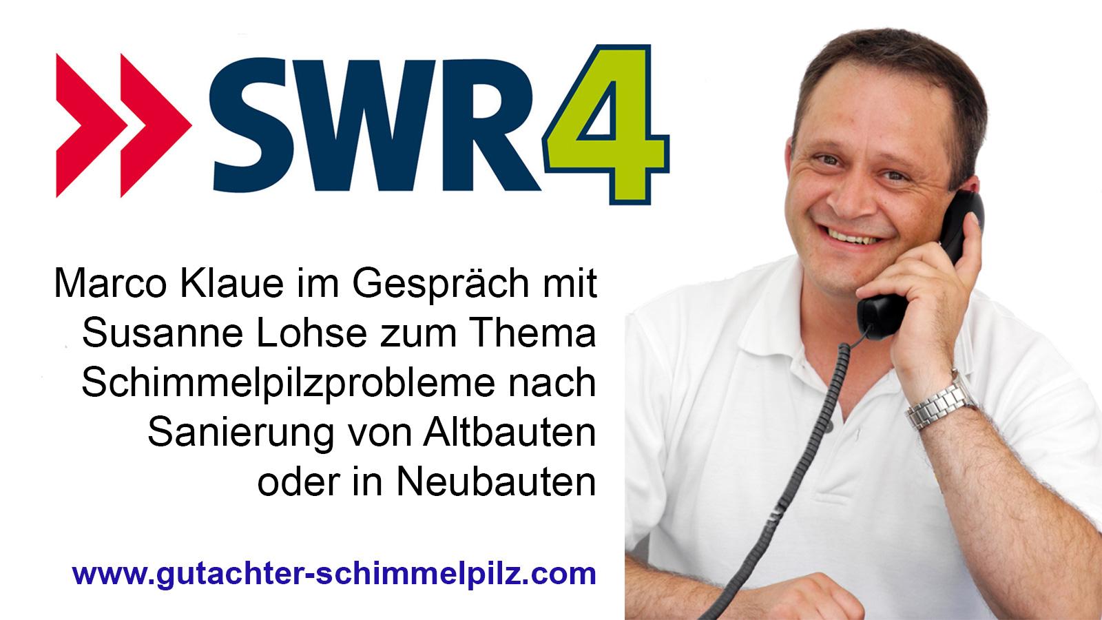 Interview beim SWR zum Thema neue Fenster im Altbau oder Schimmelbefall in Neubauten